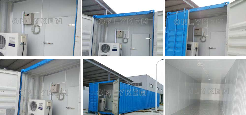 cold room with container